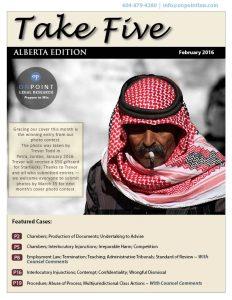 Alberta Take Five February 2016