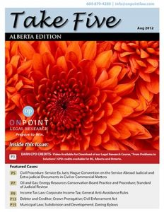 Alberta Take Five August 2012
