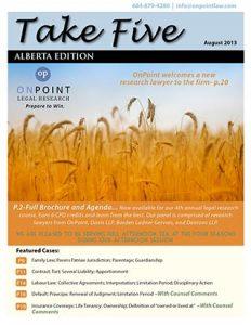 Alberta Take Five August 2013