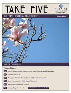 BC Take Five March 2014 cover